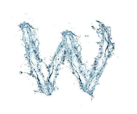 ink in water: Letter of water alphabet
