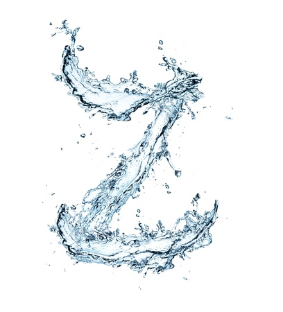 letter a z: Letter of water alphabet