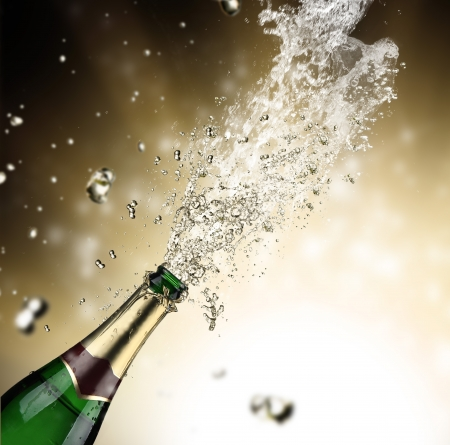 Close-up of champagne explosion Stock Photo - 16308875