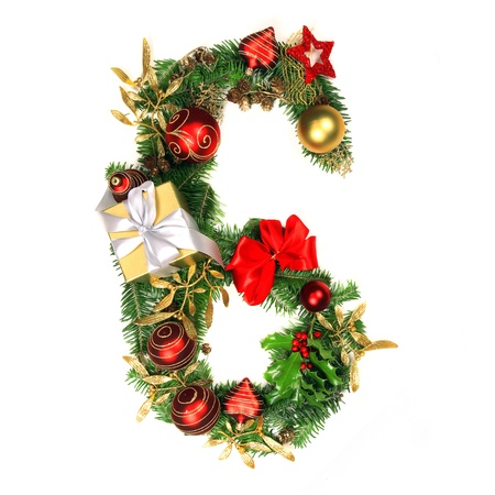 number 6: Christmas Alphabet Number 6