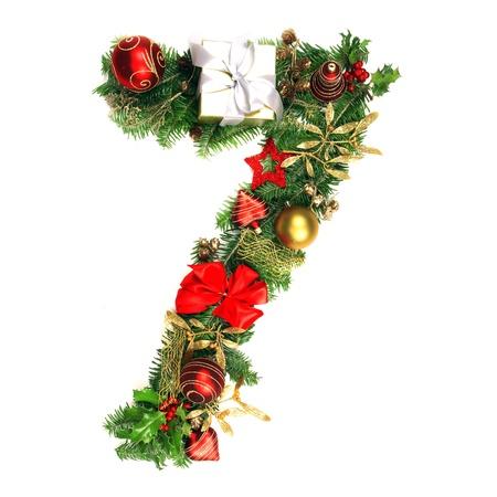 numero: Christmas Alphabet Number 7