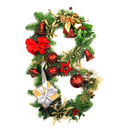 b ball: Christmas Alphabet Letter