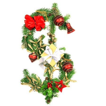 Christmas Dollar symbol photo