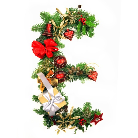 e pretty: Christmas Alphabet Letter