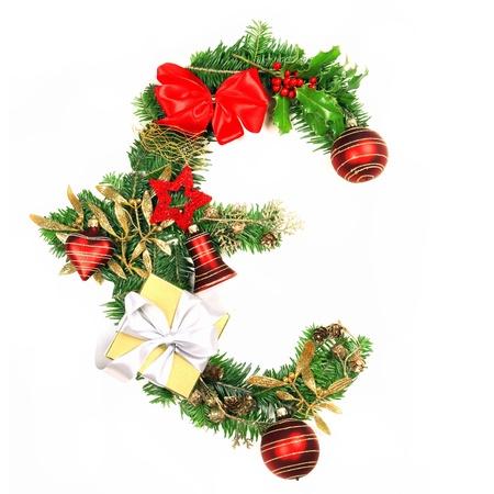 Christmas Euro symbol photo