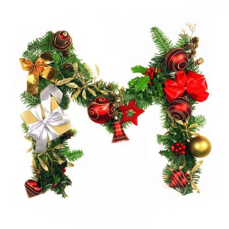 beautiful alphabet: Christmas Alphabet Letter
