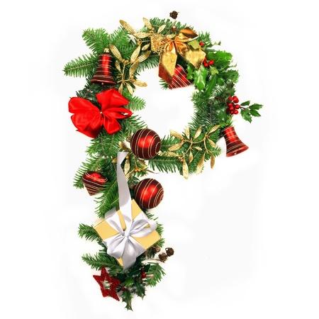 moños navideños: Letra del alfabeto de la Navidad