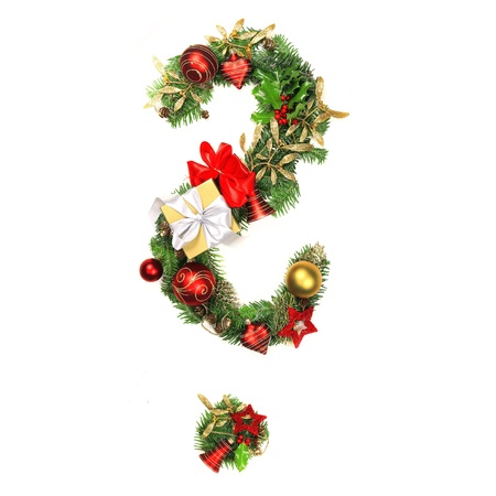 Christmas Question mark photo