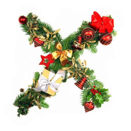 Christmas Alphabet Letter photo