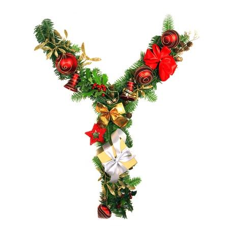 write letter: Christmas Alphabet Letter