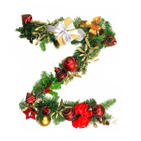 letter a z: Christmas Alphabet Letter