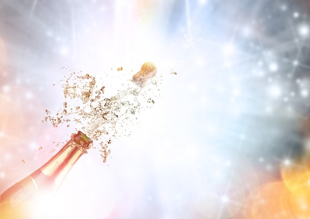 Close-up of champagne explosion Stock Photo - 16454502