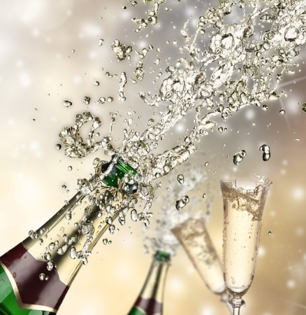 Close-up of champagne explosion Stock Photo - 16543357