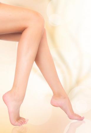 Beautiful woman legs photo