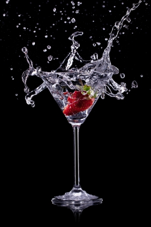 gin: martini drink over dark background