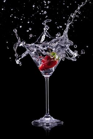 sweet vermouth: martini drink over dark background