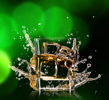 scotch whisky: Close-up of glass with whisky