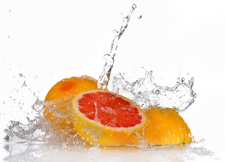 Grapefruits with Splashing water  photo