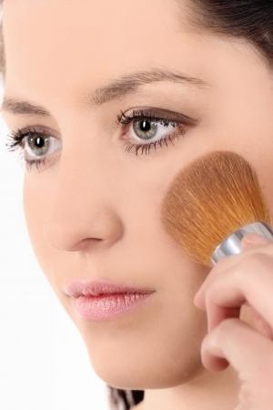 Beautiful Face Makeup close-up. photo
