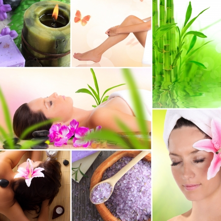 alternative wellness: Spa and relax collection Stock Photo
