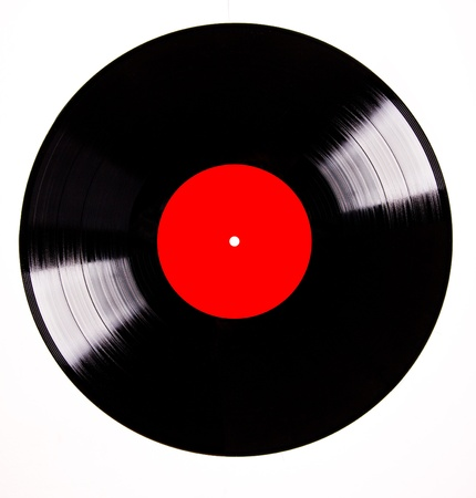 Vinyl disc over white background photo