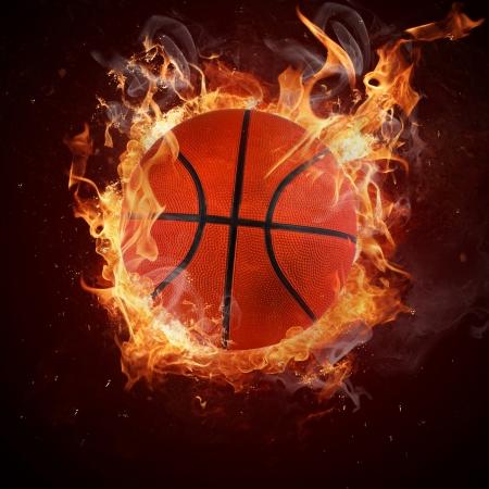 canestro basket: Basket caldo in fiamme degli incendi