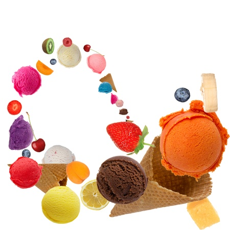 gelato: Ice cream scoops in motion
