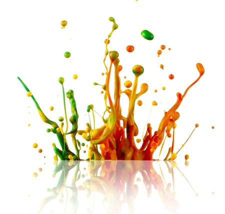 Splashing colours photo