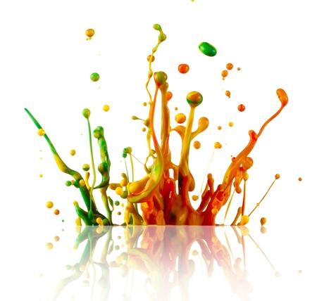 ink splatter: Splashing colours