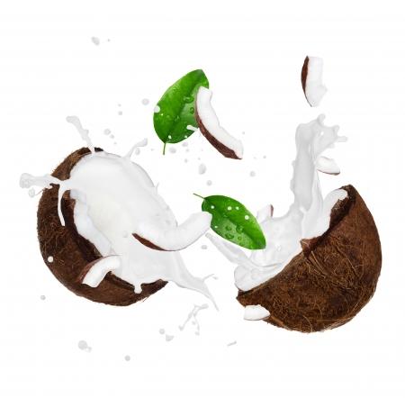 Cracked coconut photo