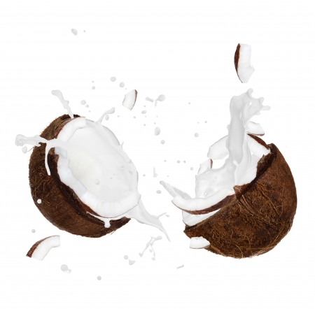 cracked coconut Stock Photo - 26716488