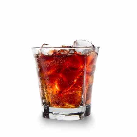 libre: Cuba Libre Cocktail isolated on white