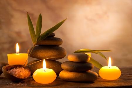 orchidee: Spa still life con candele aromatiche