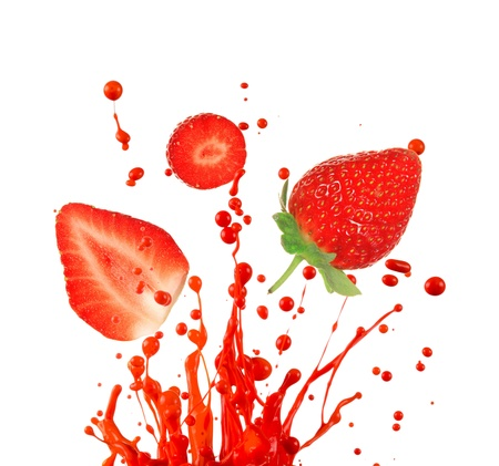 Fresh strawberry on white background photo