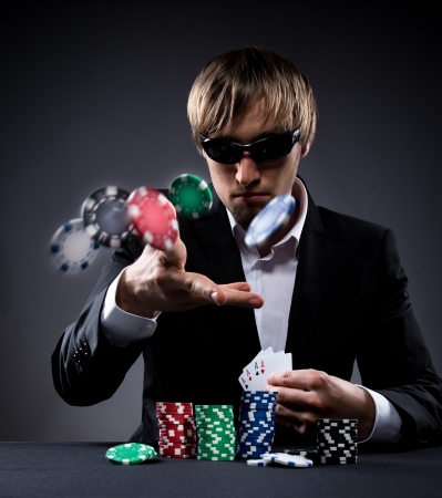 betting: Portrait of a professional poker player