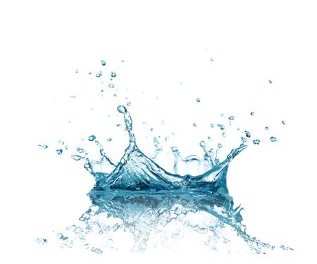 CLaboussures d'eau isolé sur blanc Banque d'images - 20098414