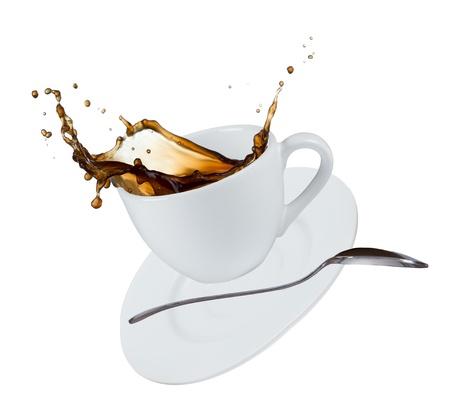Close-up van het kopje koffie