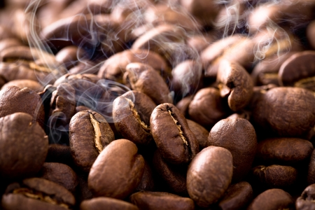coffe beans: Close-up of coffee beans
