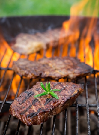 closeup of a steak on grill Stock Photo - 21157610