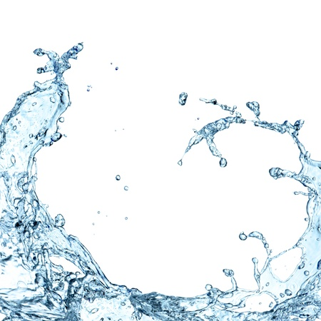 Spruzzi d'acqua su sfondo bianco Archivio Fotografico - 21362413