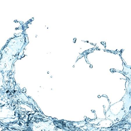Water splash op een witte achtergrond