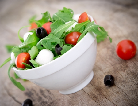 Fresh salad over white background Stock Photo - 21362507