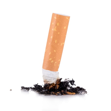 butt: consumed cigarettes on white background