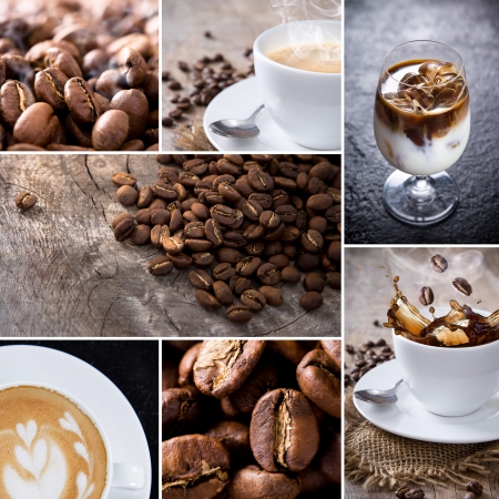 coffe beans: Coffee collection, close-up photos