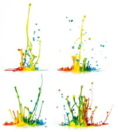 ?claboussures de peinture color?e sur fond blanc Banque d'images - 21861439