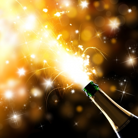 Close-up of champagne explosion  Celebration theme