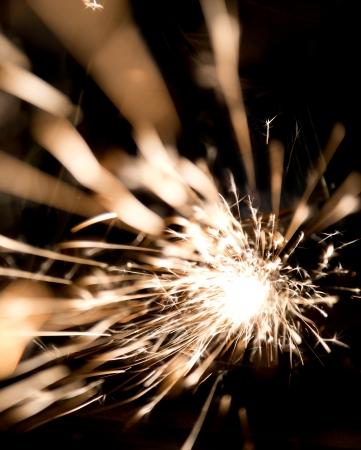 fire works: Bright sparks over black