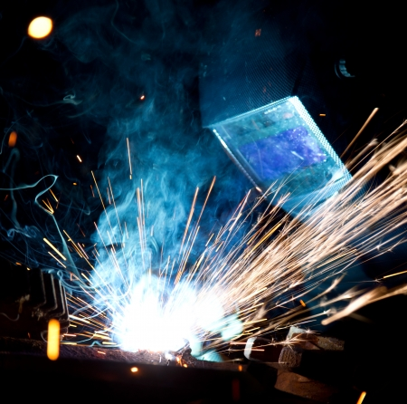 workplace safety: Welder in action