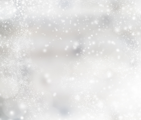 snow drops: Abstract christmas blurred background