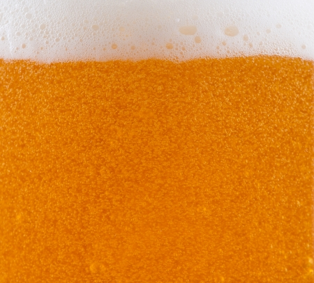 Close up of beer in a glass  photo